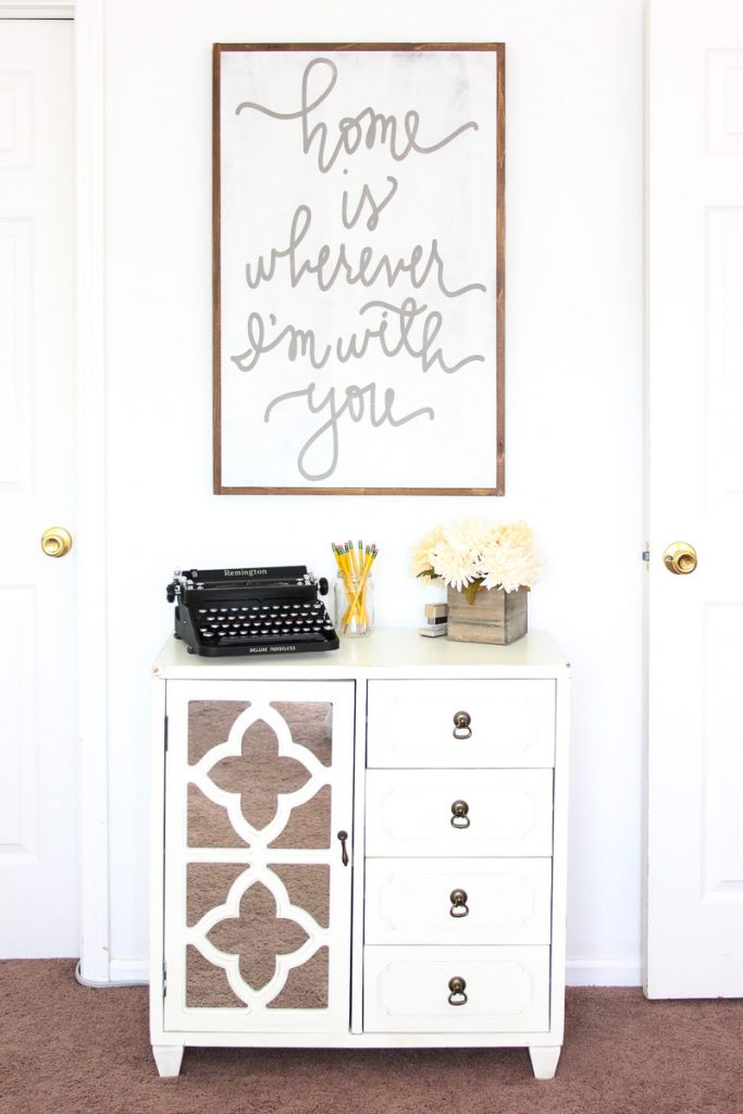home office - storage cabinet and decor