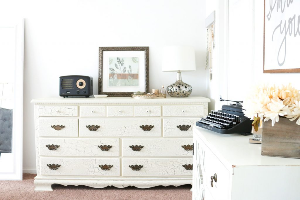 Entering our home office - supply storage and decor