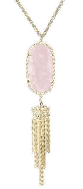 kendra scott rose quartz rayne necklace 2