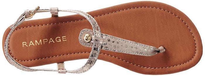 rampage gold metallic pashmina flat sandal