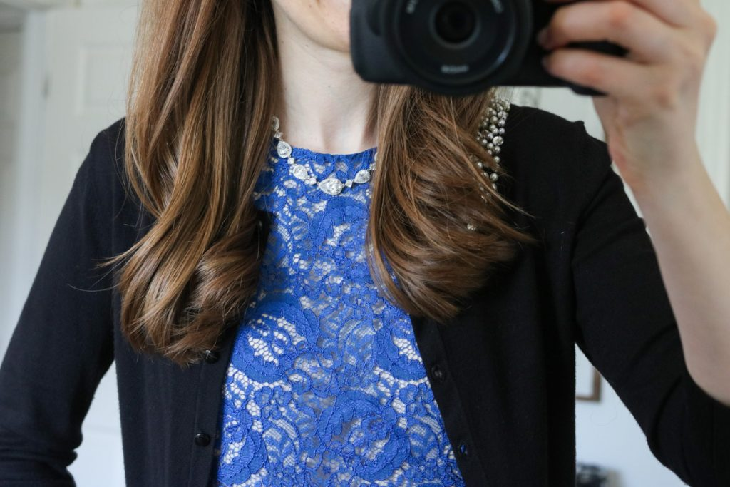 Queenie Lace Overlay Blouse from Lavender Brown - Stitch Fix