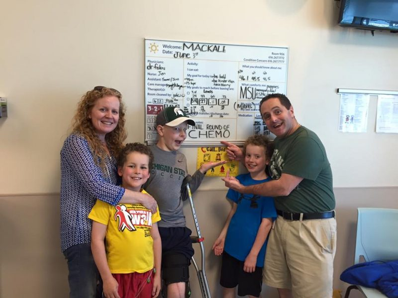 McGuire family - last chemo treatment