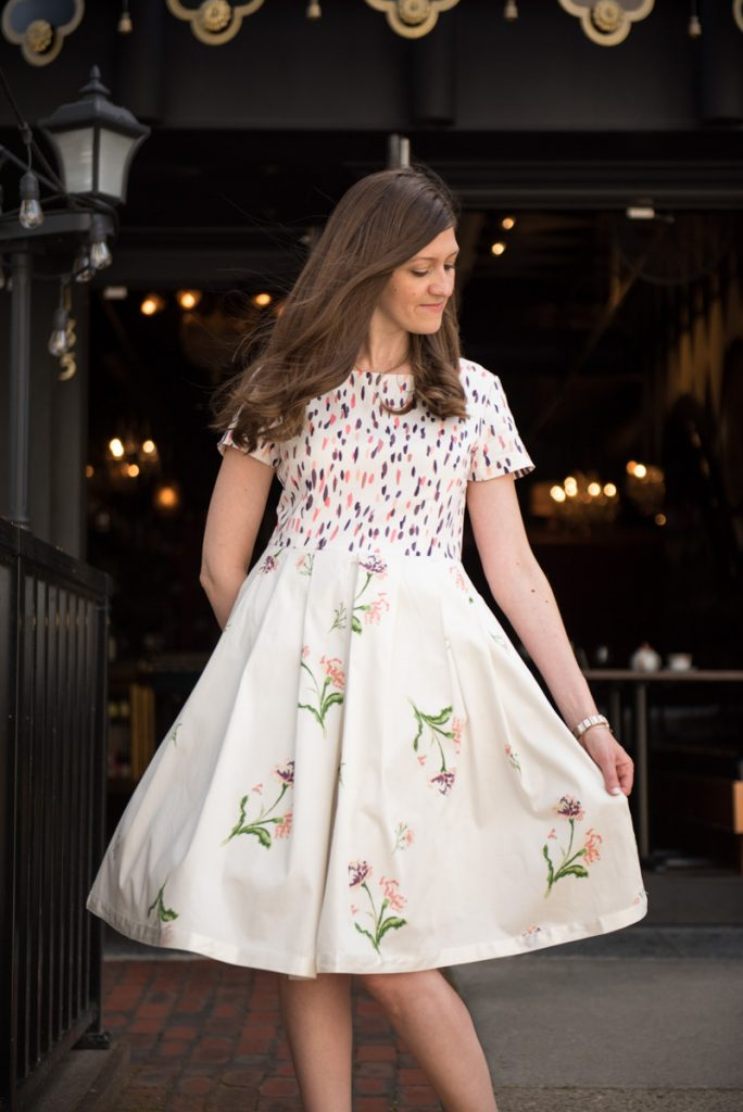 Madcap Cottage floral a-line dress from HSN's Alice Through the Looking Glass collection