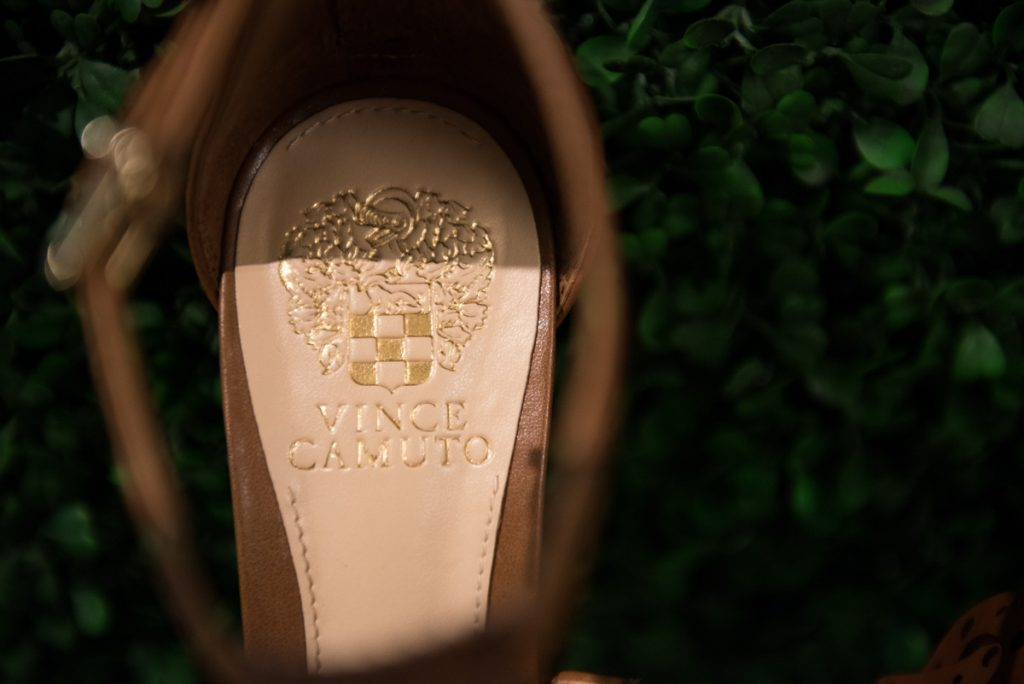 "Vince Camuto ""Mikinal"" Clockwork Design Leather Sandal"