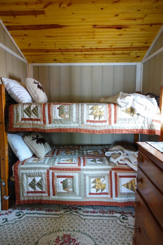 rustic cabin in northern Michigan