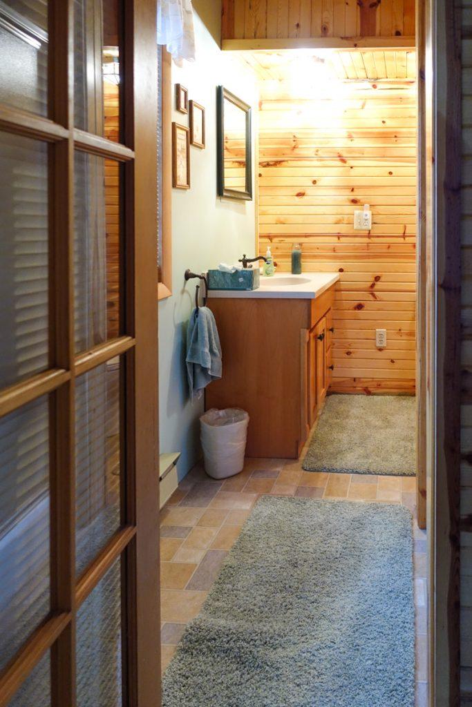 rustic cabin in Michigan