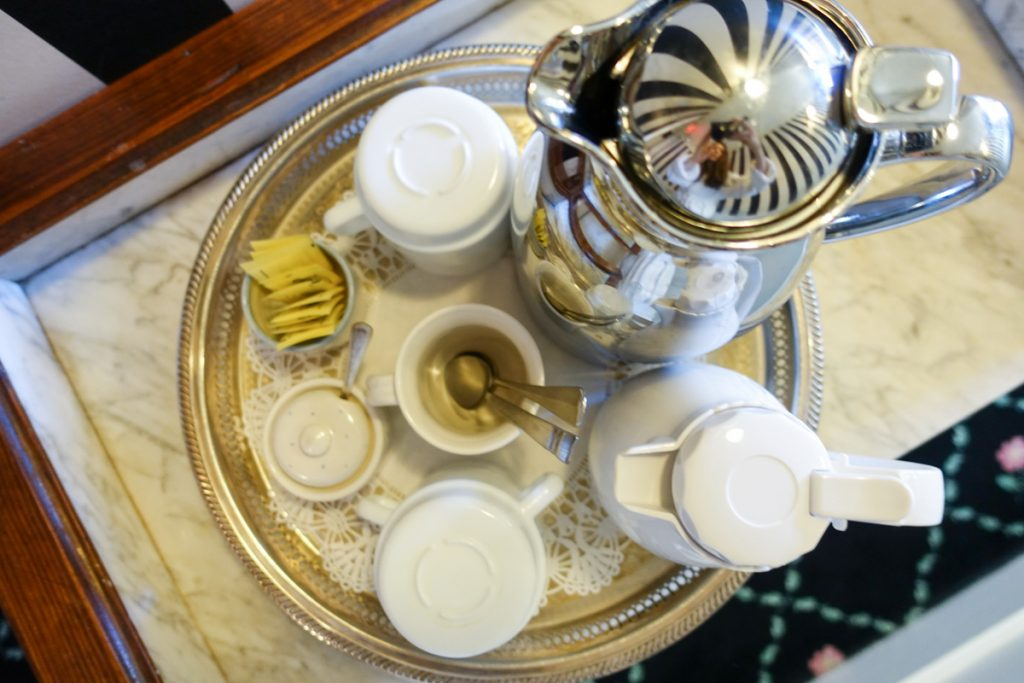 coffee service at the Wickwood Inn