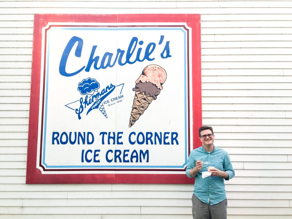 Charlie's Ice cream in Saugatuck, Michigan