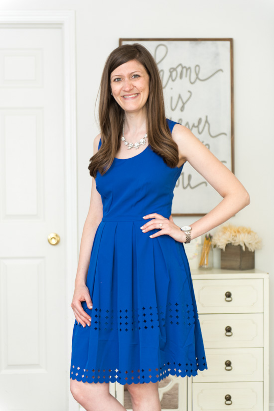 cobalt blue James Laser Cut Dress from Brixon Ivy - July 2016 Stitch Fix review