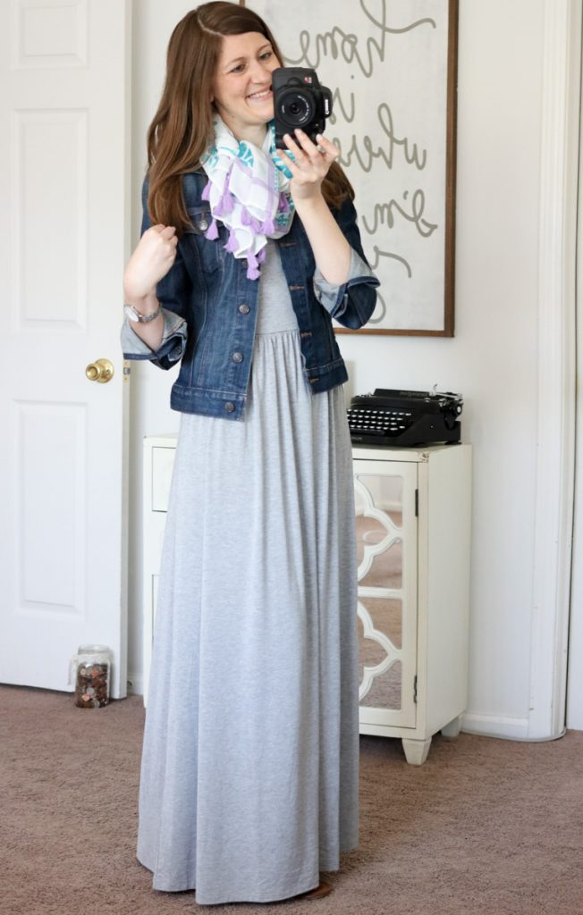 maxi dress and denim jacket - summer style