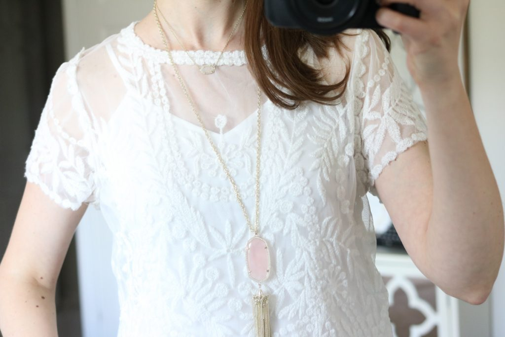 Short Sleeve Lace Top from Hinge - July Trunk Club review