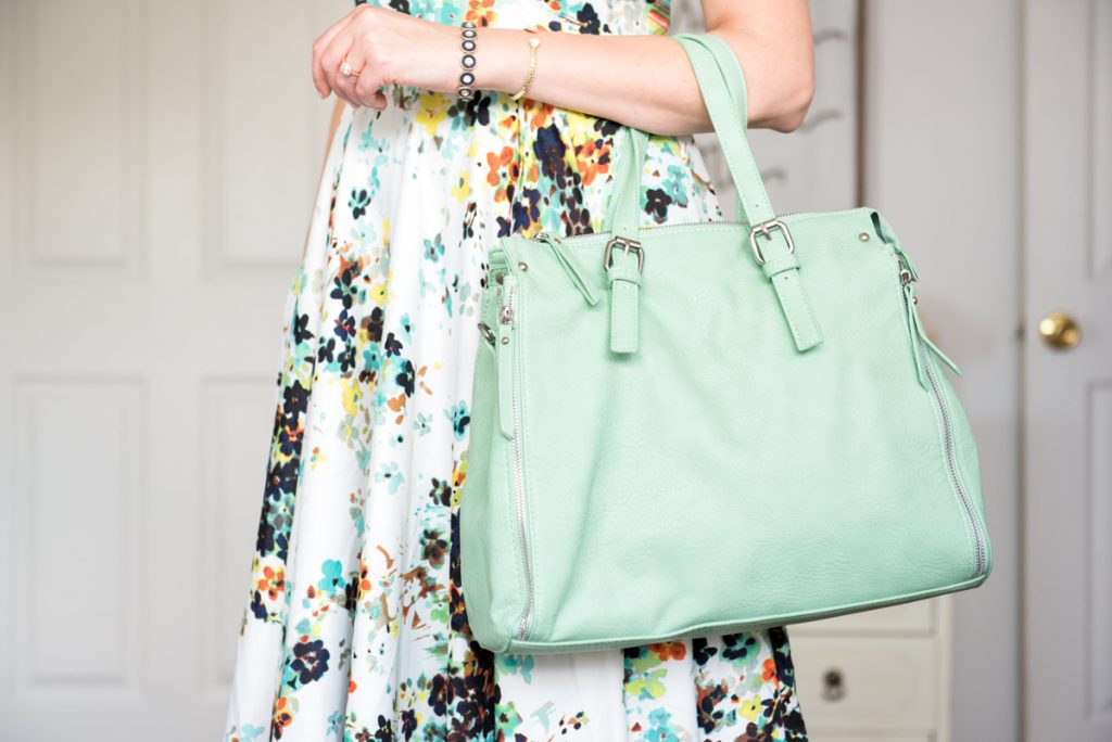 mint Lynden Satchel from Urban Expressions - August Stitch Fix review