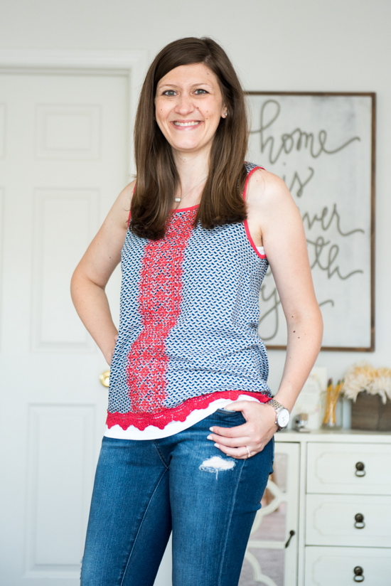 Palvin Crochet Detail Top from Skies are Blue - September Stitch Fix review