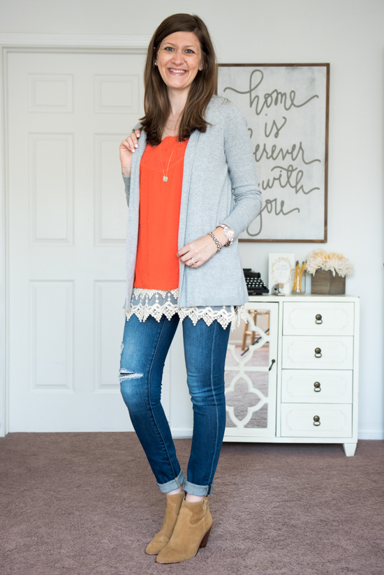 Marcos Crochet Neckline Top from Skies are Blue - September Stitch Fix Review