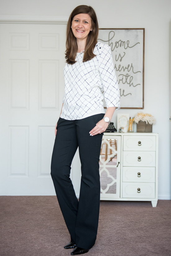 Webber Button Detail Blouse from 41Hawthorn - September Stitch Fix review