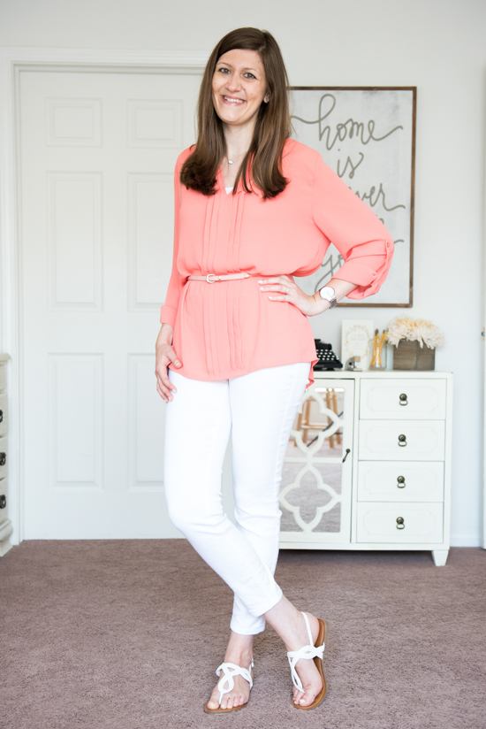 Breyson Pleated Tab Sleeve Blouse from 41Hawthorn - September Stitch Fix review