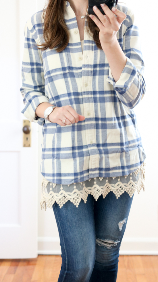 Trunk Club Women Review - 'Ex-Boyfriend' Plaid Cotton Flannel Shirt by Madewell