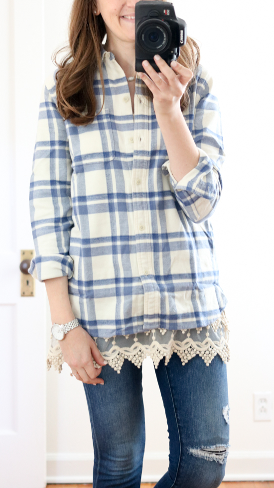 Trunk Club Women Review - 'Ex-Boyfriend' Plaid Cotton Flannel Shirt by Madewell