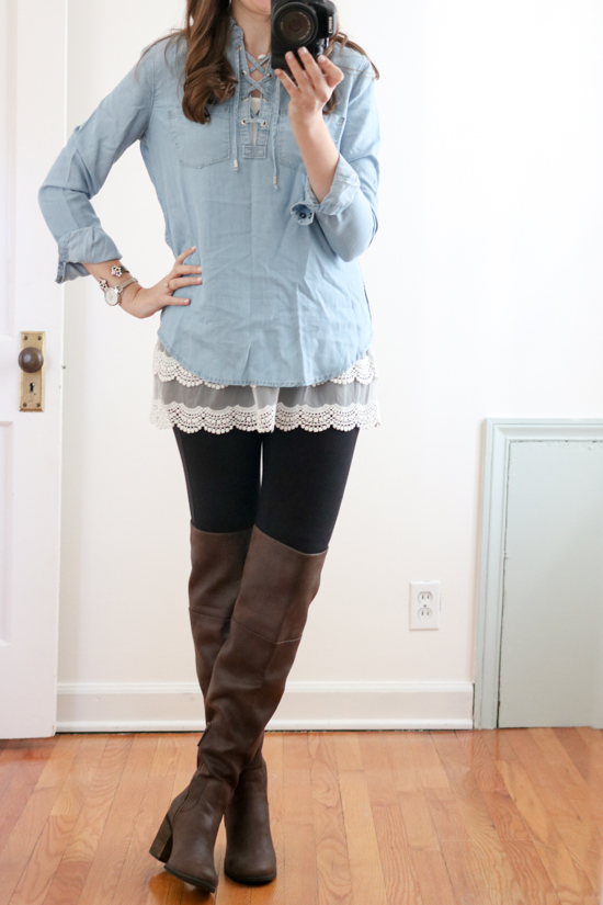 """Trunk Club Women Review - """"Canton"""" Over the Knee Boot by Hinge"""