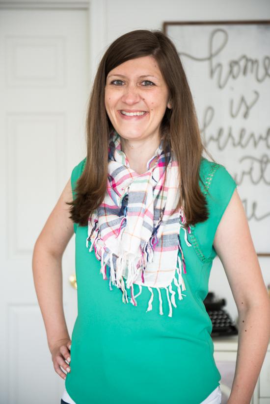 perfect bright plaid scarf