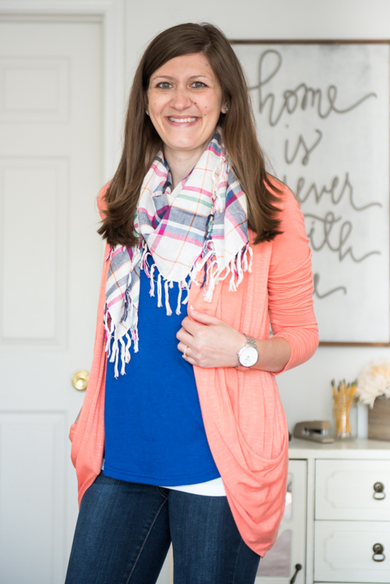 perfect plaid scarf for fall