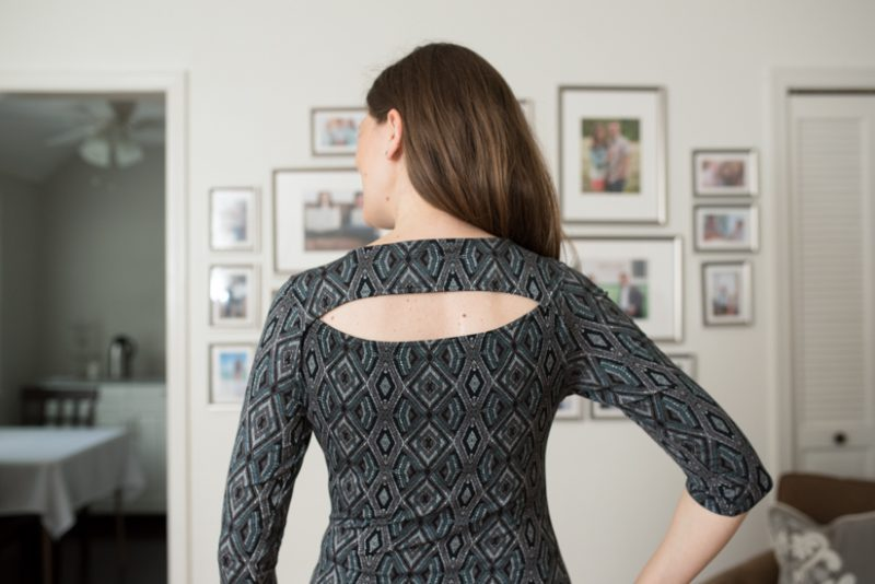Benete Back Slit Knit Top from Loveappella - September 2016 Stitch Fix review