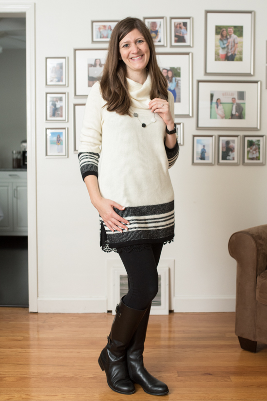 Camy Textured Stripe Trim Pullover from Market & Spruce - September 2016 Stitch Fix Review