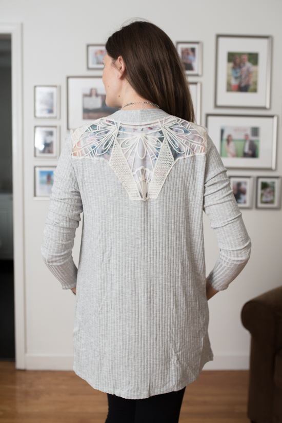 Serafina Lace Detail Cardigan from Le Lis - October Stitch Fix Review