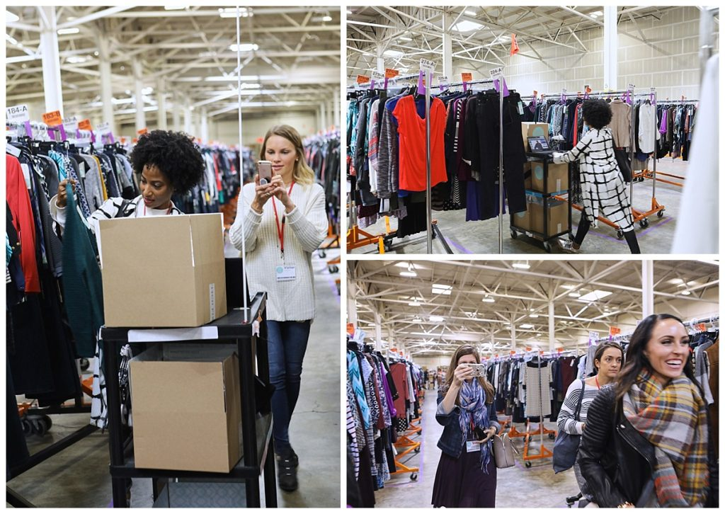 bloggers visit Stitch Fix warehouse in San Francisco