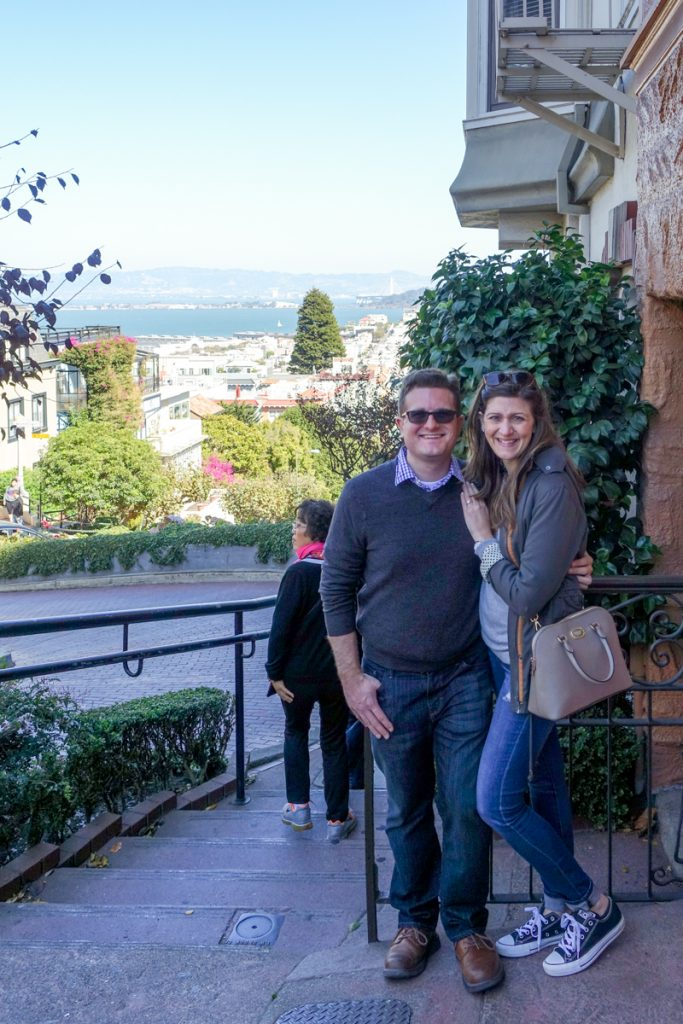 Rob and Maria on Lombard Street in San Francisco