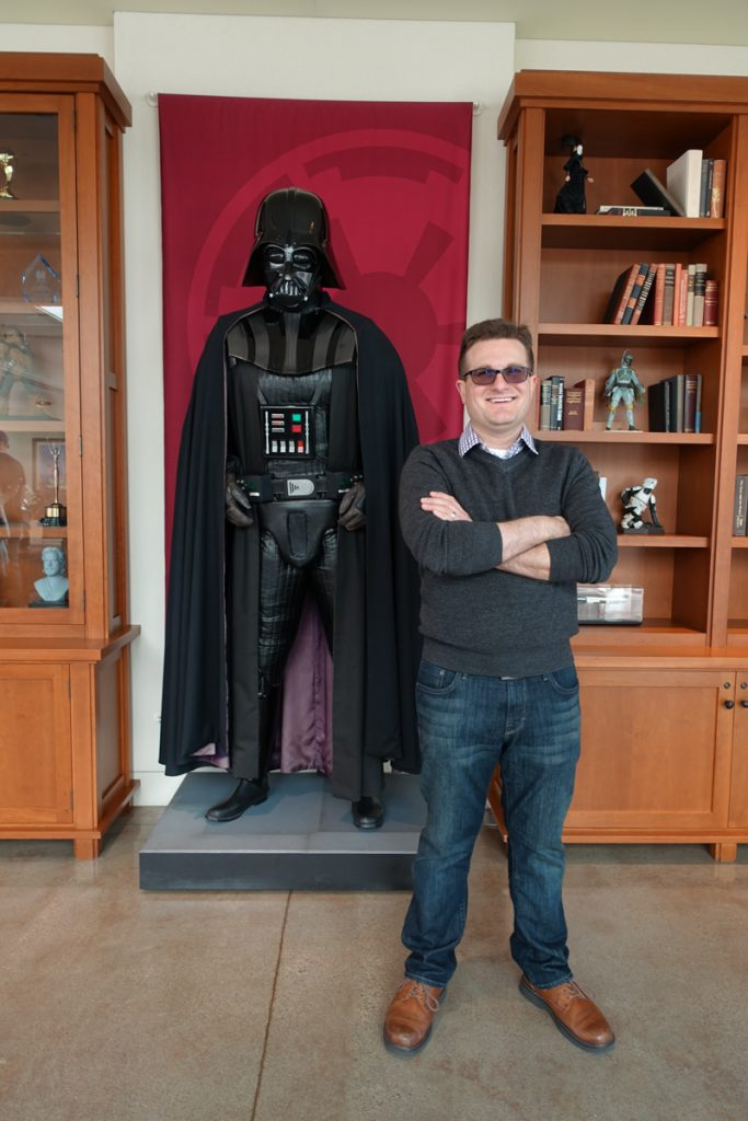 Darth Vader at Lucasfilm studio in San Francisco