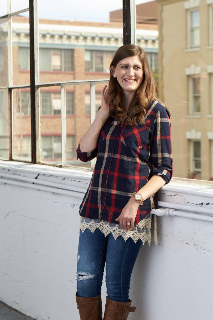 Maria Gavin plaid flannel style at Stitch Fix