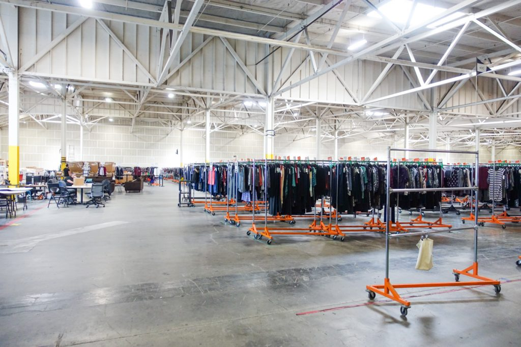 "Stitch Fix warehouse, aka ""The Hizzy"""