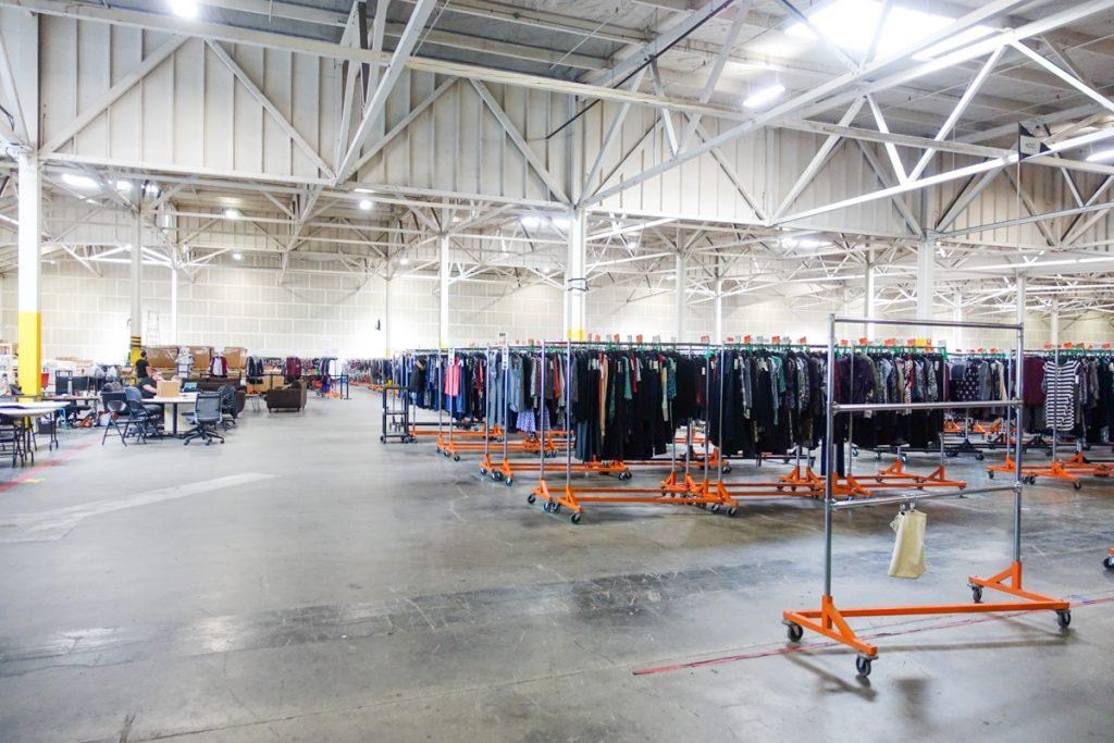 """Stitch Fix warehouse, aka """"The Hizzy"""""""