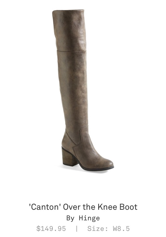 "Trunk Club Women Review - ""Canton"" Over the Knee Boot by Hinge"