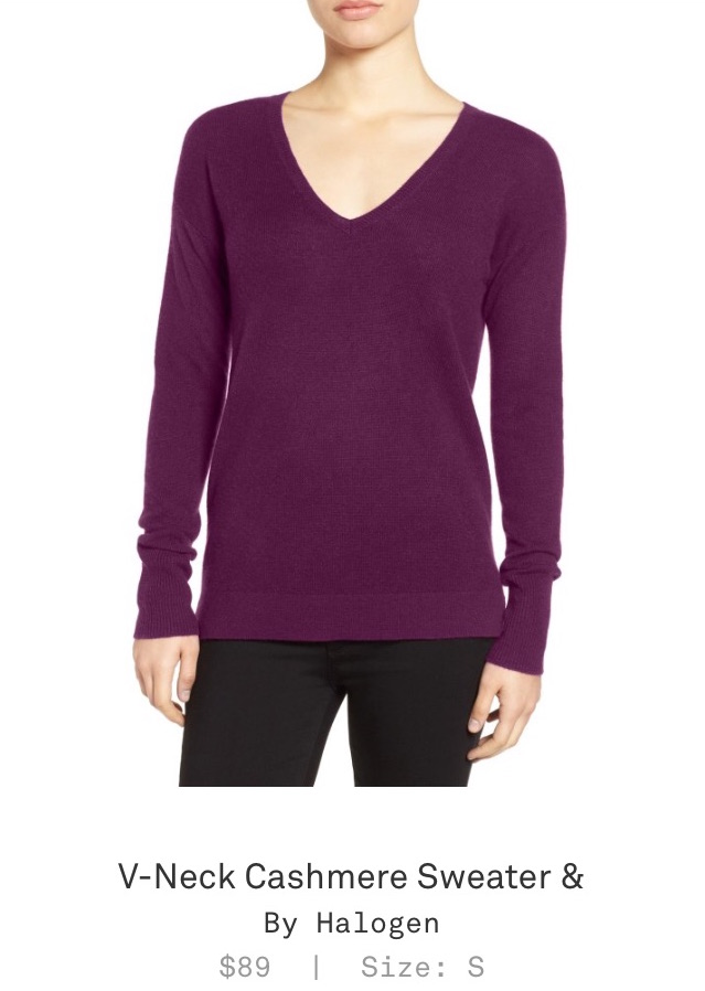 Trunk Club Women Review - V-Neck Cashmere Sweater by Halogen