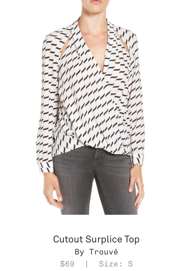 Trunk Club Women Review - Cutout Surplice Top by Trouvé