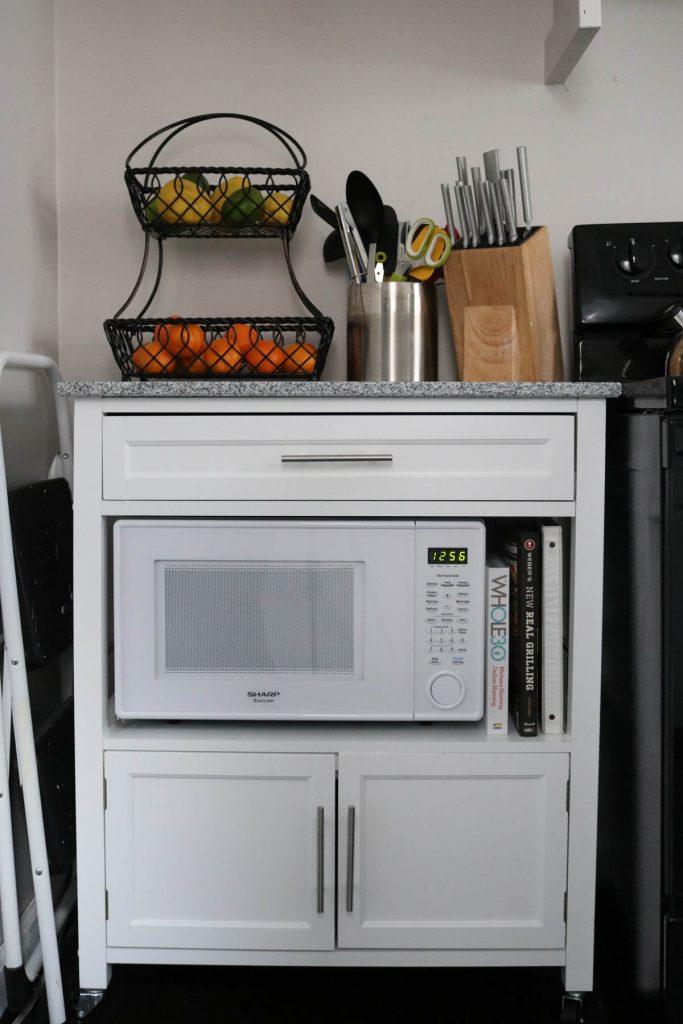 Crazy Together blog 2016 home tour - kitchen storage cart