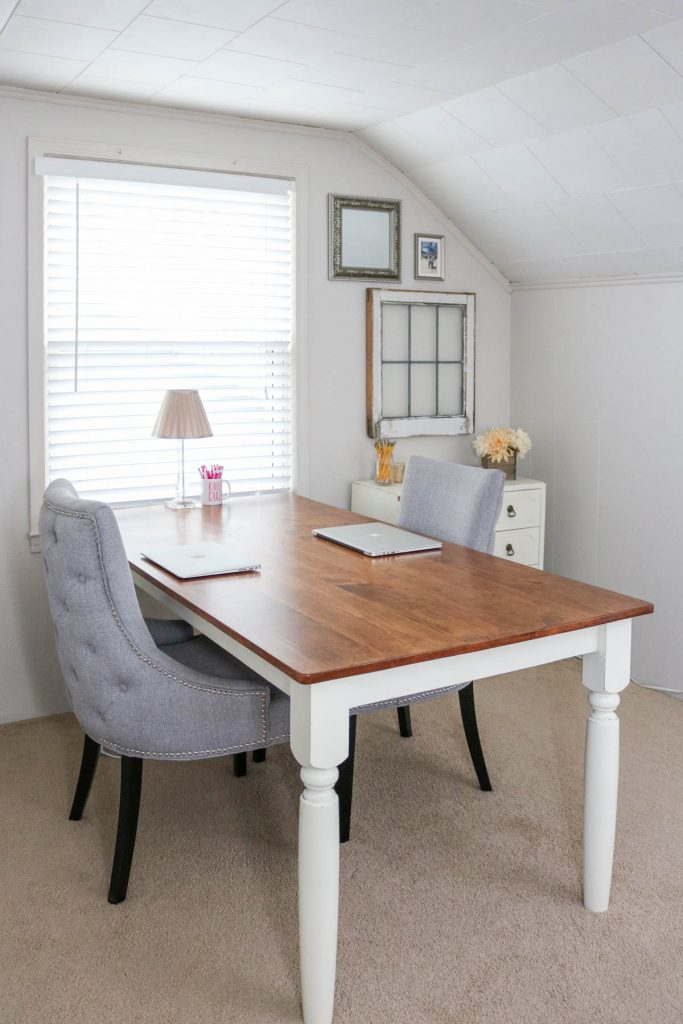 bungalow style home office - Crazy Together blog