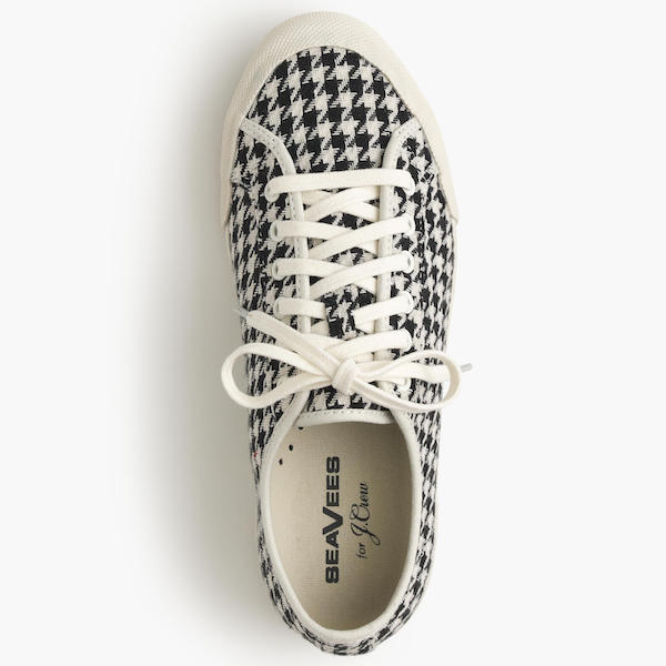 Monterey Houndstooth Lace-Up Sneakers from SeaVees - January 2017 Stitch Fix Review - Crazy Together