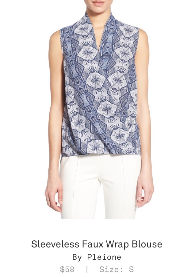 Trunk Club Women Review - Sleeveless Faux Wrap Blouse by Pleione