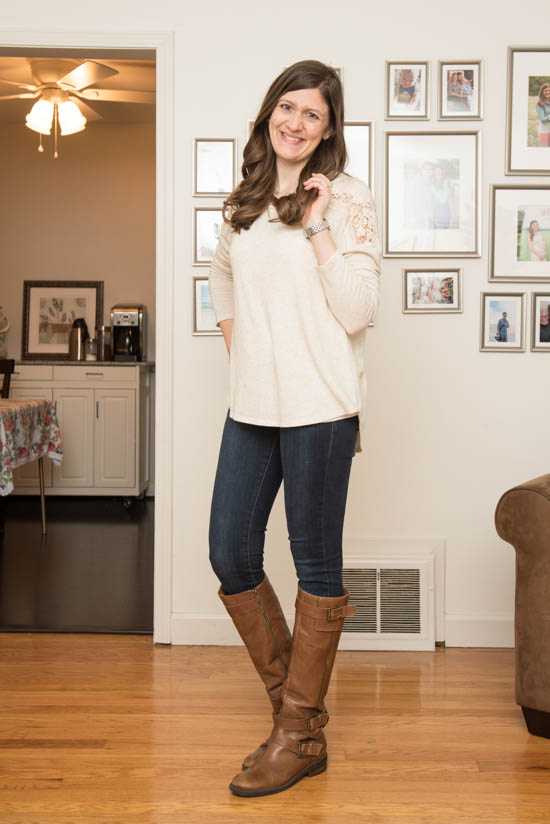 Columbus Pullover Knit Top from Le Lis - January 2017 Stitch Fix Blog Review - Crazy Together