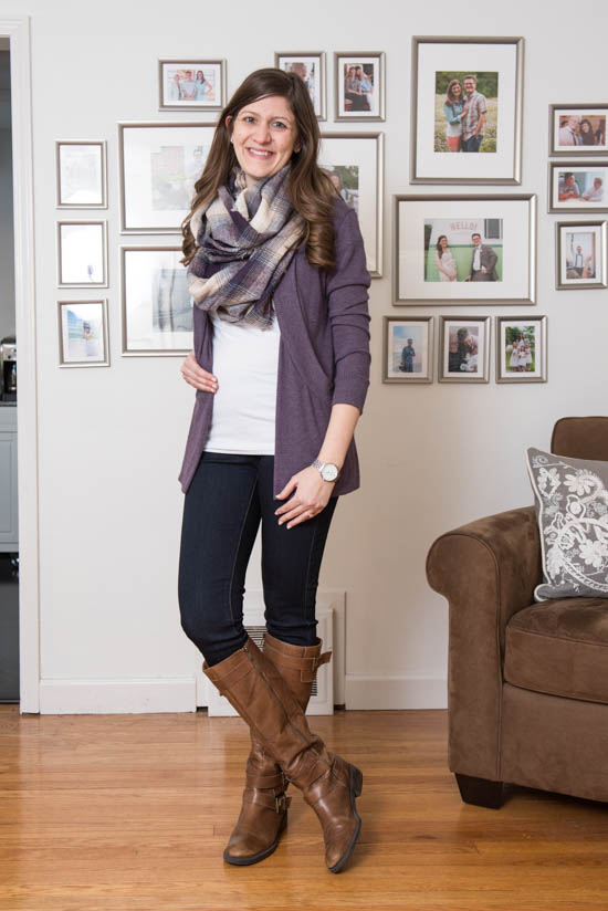 Ciara Flannel Infinity Scarf from Octavia and Elizabeth Super Skinny Jean from Liverpool | Stitch Fix | Stitch Fix Styles | Stitch Fix Maternity | February 2017 Stitch Fix Review