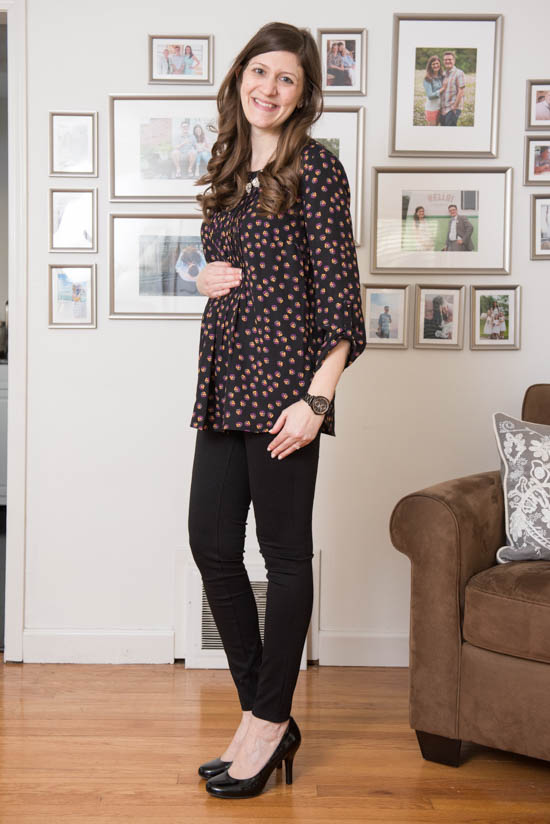 Albans Henley Maternity Blouse from Daniel Rainn Maternity | Stitch Fix | Stitch Fix Styles | Stitch Fix Maternity | February 2017 Stitch Fix Review