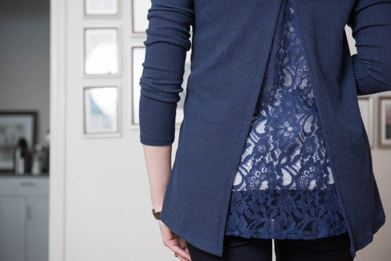 Apollo Lace Back Open Cardigan from Tea N Rose and Elizabeth Super Skinny Jean from Liverpool | Stitch Fix | Stitch Fix Styles | Stitch Fix Maternity | February 2017 Stitch Fix Review