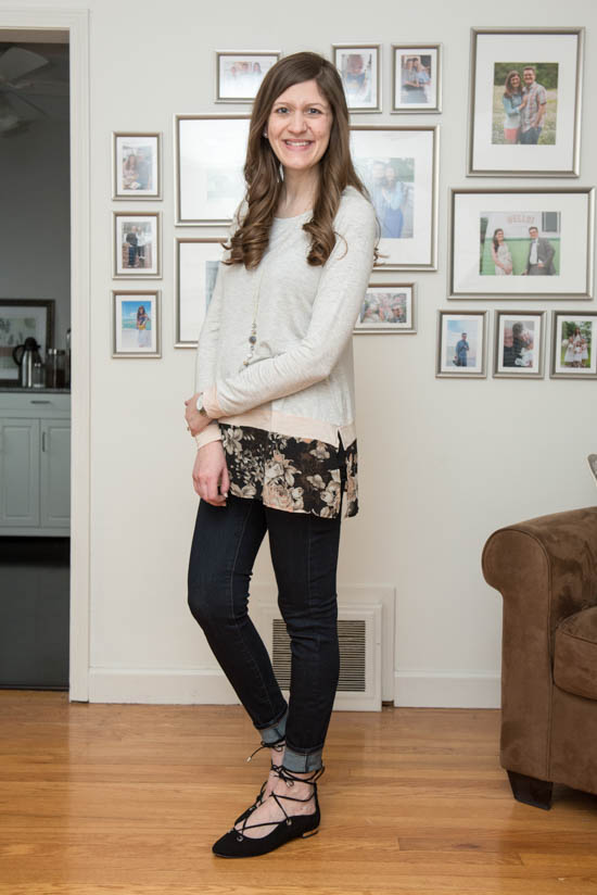 Moran Maternity Mixed Material Knit Top from Full Moon - Stitch Fix - Stitch Fix Maternity - Stitch Fix style | Crazy Together lifestyle blog