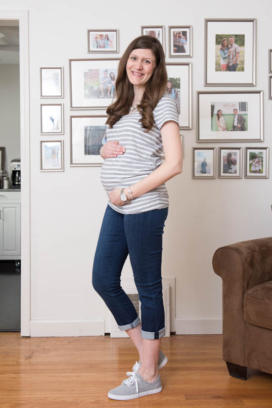 Mirabella Maternity Capri Skinny Jean from Liverpool | Stitch Fix Review - April 2017 | Stitch Fix Maternity | Stitch Fix style | Stitch Fix clothes | Crazy Together blog
