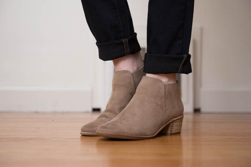 Karene Perforated Bootie from DV8 | Stitch Fix Review - April 2017 | Stitch Fix Maternity | Stitch Fix style | Stitch Fix clothes | Crazy Together blog