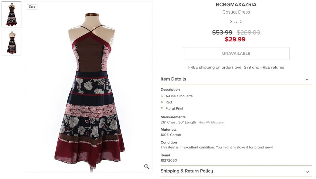 BCBGmaxazria dress on ThredUP