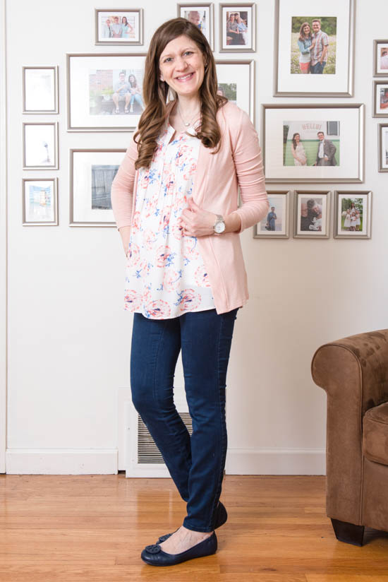 Lottie Pleated Maternity Blouse from Pale Sky | May maternity Stitch Fix review | Stitch Fix | Stitch Fix blogger | Stitch Fix clothes | Crazy Together blog